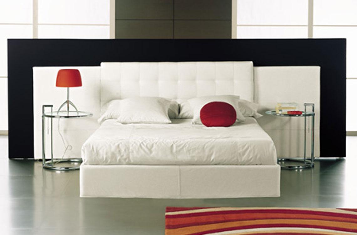 Dormitorio matrimonio cabezales tapizados espacios - Cabezales de cama de matrimonio ...