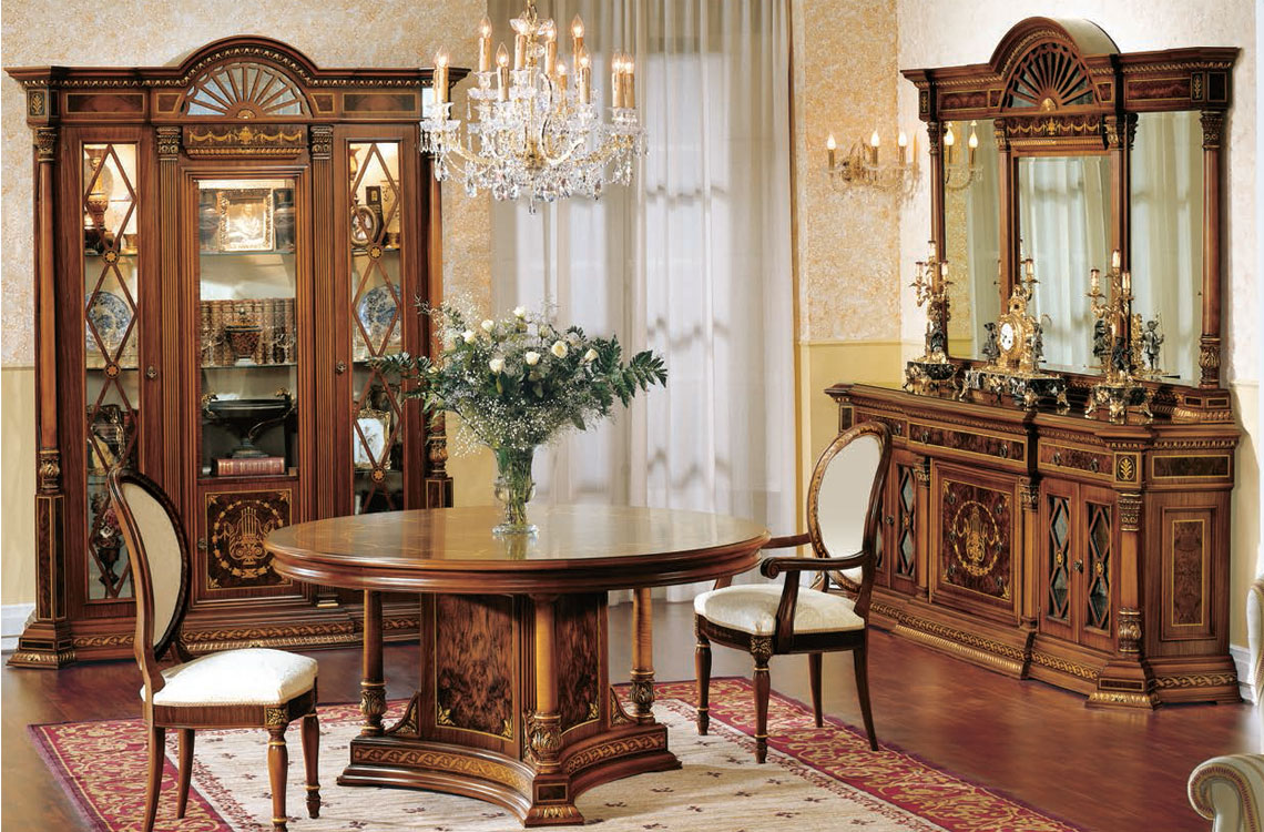 Comedor cl sico espacios decoraci n ortega mueblistas for Decoracion comedor clasico